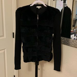 Perfect condition Avalon boutique jacket with fur!